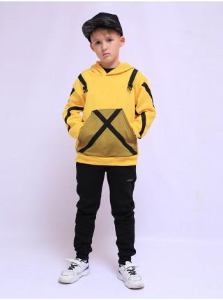 Спортивный костюм желтая толстовка и штаны