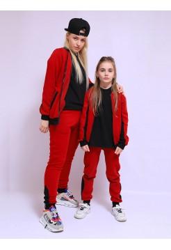 Спортивный костюм Family  look бордо