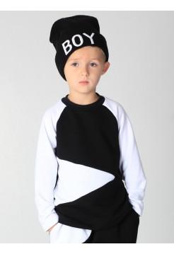 Реглан детский черно-белый