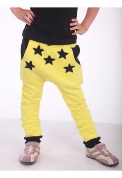 Штаны детские желтые со звездами